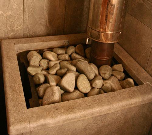 Печь для бани с открытой каменкой готовая к эксплуатации