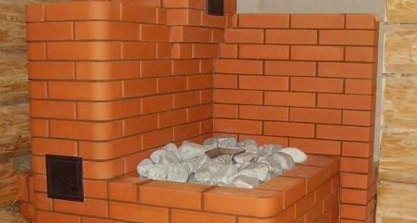 Печь каменка из кирпича