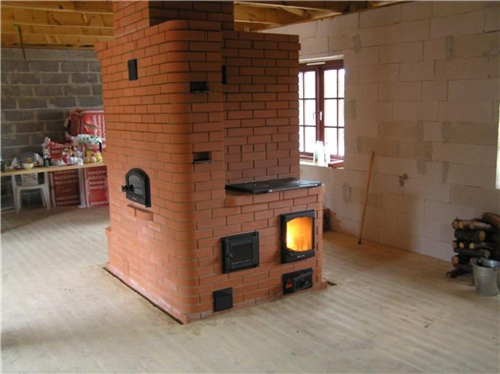 Кирпичная печь для дома фото