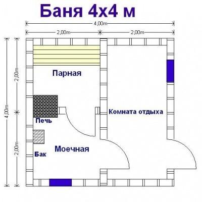 План компактной постройки.