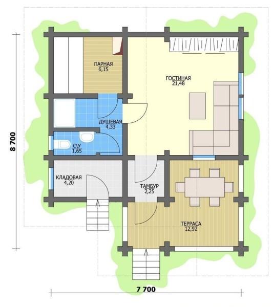 План многофункционального здания