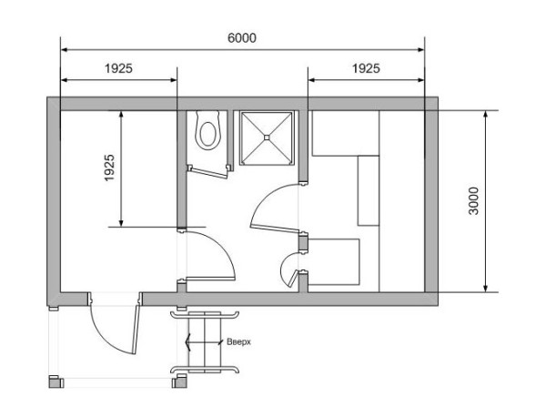 План постройки 6 на 3 метра.