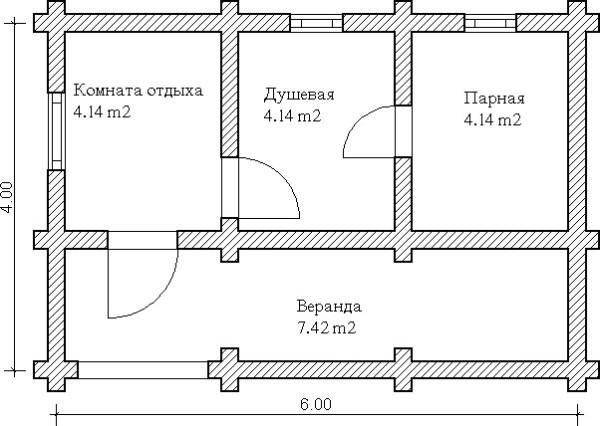 Планировка бани 4 на 6 внутри, должна предусматривать как дизайнерские, так и практичные моменты.