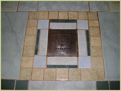 Плитка на полу бани
