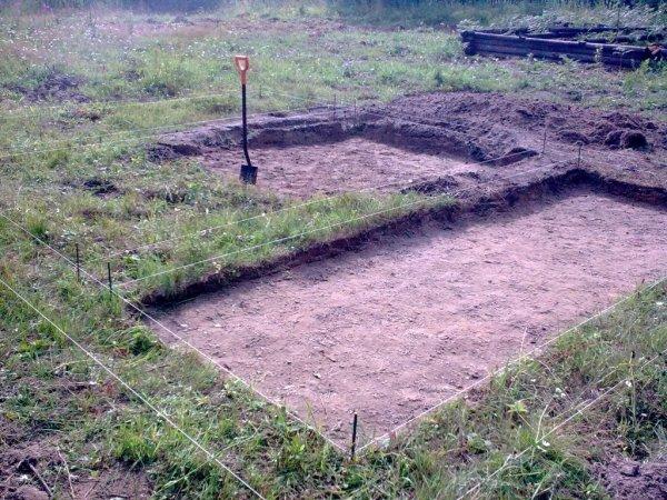 Подготовка участка твёрдой земли