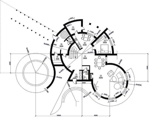 Подробный проект дома с сауной первого этажа