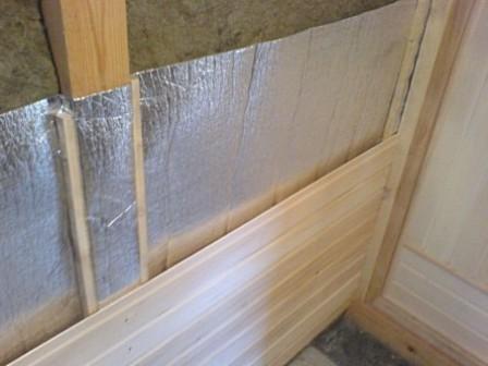 Полная термоизоляция стены