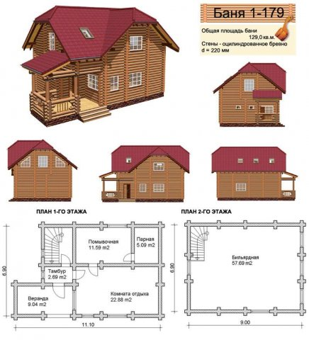 Проект бани и печи для бани: особенности строительства банных помещений, фото