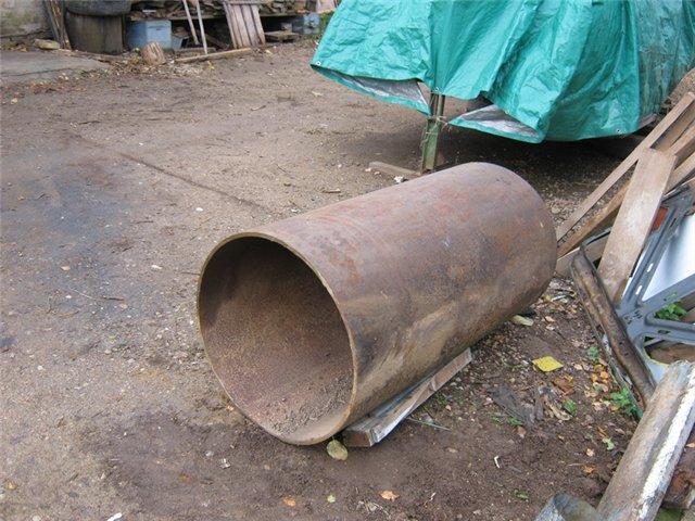 Печь из трубы буржуйка