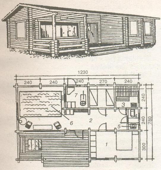 Принцип размещения в деревянном здании
