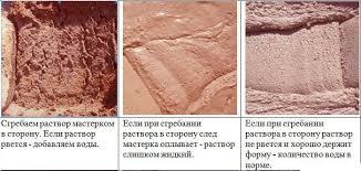 Принципы определения качества раствора на основе из глины