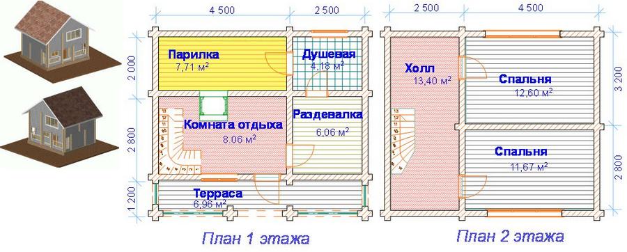 Гостевой домик своими руками схема 74