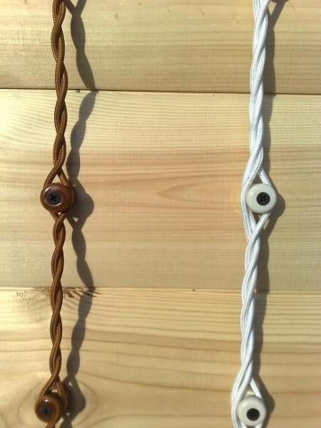 Проводка в парилке на роликовых изоляторах