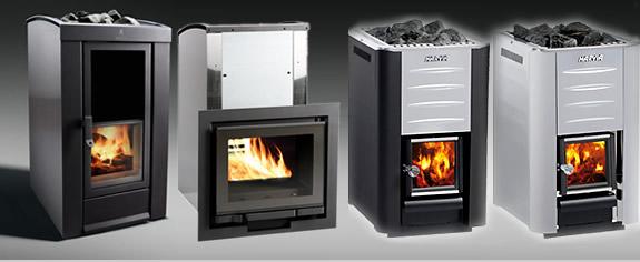 Распространенные виды электрических печей для бани с установленным парогенератором и имитацией «живого огня»