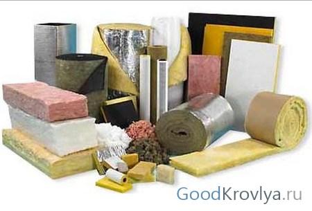 Различные материалы, которые можно использовать в качестве утеплителя