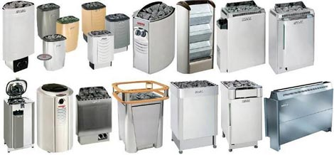 Разнообразные электрические банные печи