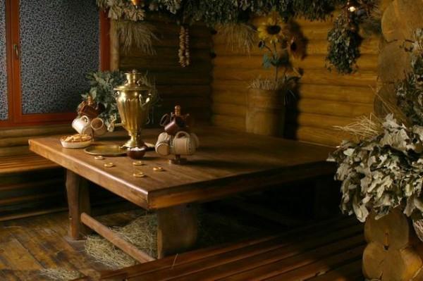 Самовар – непременный атрибут русской бани