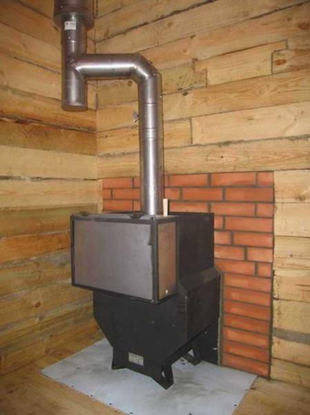 Самый распространенный материал для изготовления современных печей для бани – это металл.