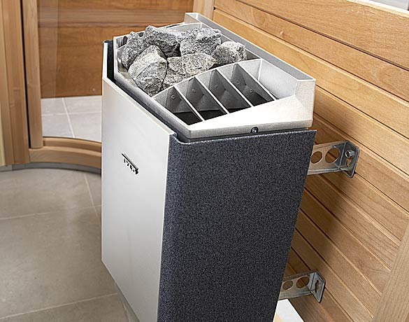 Сборка бань обязательно должна предусматривать установку каменки – для таких моделей практически всегда электрических