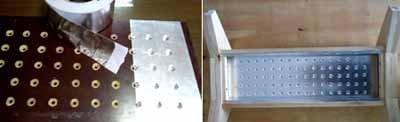 Седьмой этап – изготовление отверстий под светодиоды
