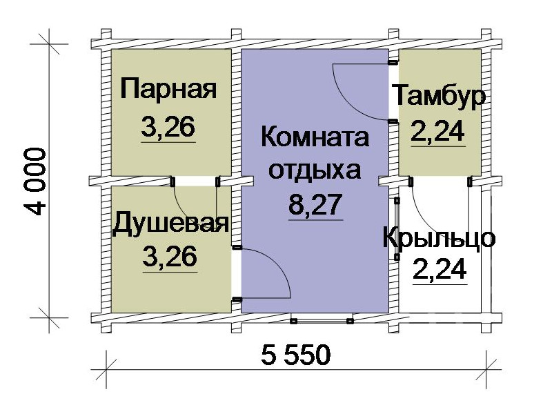 Схема-чертеж бани
