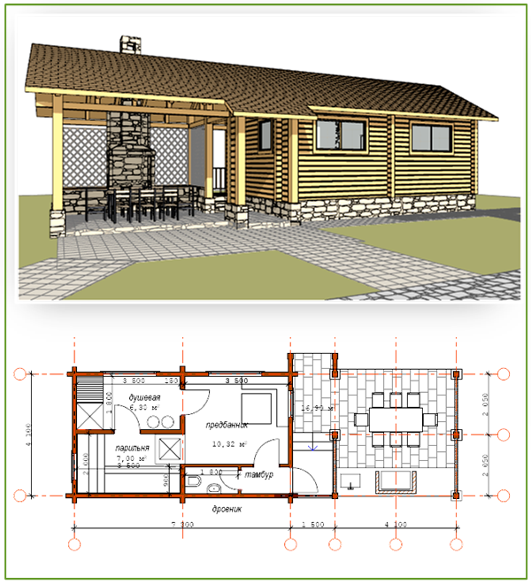 Схема и внешний вид строения