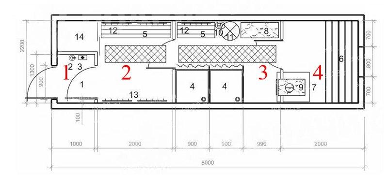 Схема расположения комната в