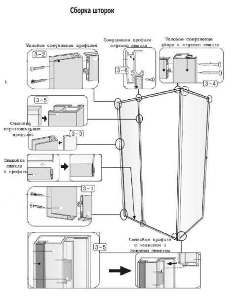 Схема сборки шторок
