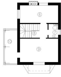 Схема верхнего этажа гостевого домика