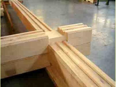 Соединение деревянных изделий с выступающим остатком