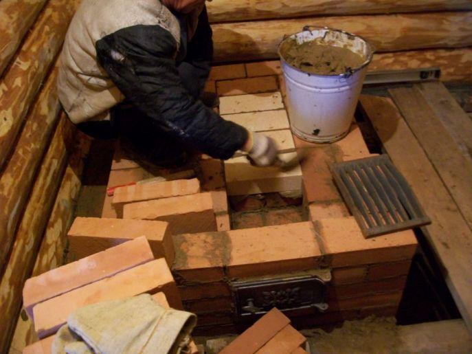 Печка каменка для бани своими руками