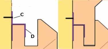 """Специально для новичков: """"D"""" и есть кляймер – своеобразная скоба-уплотнитель между нижней и верхней полосой вагонки; """"C"""" - гвоздь"""