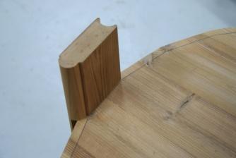 Специальный паз для округлой стыковки