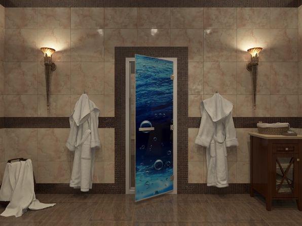 Стеклянные двери для турецкой бани – хамама.