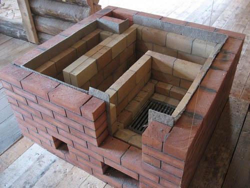 Строительство печи из кирпича.
