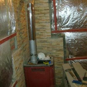 Светоотражающая поверхность утеплителя и защита из камня
