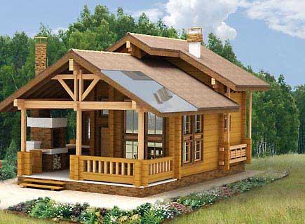 Такая баня вряд ли будет под силу начинающему строителю – начните с малого.