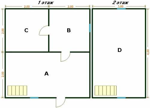 Тогда план каждого этажа становится пустой формальностью, здесь уже важны только размеры, инструкция по возведению прекрасно читается по трехмерному эскизу