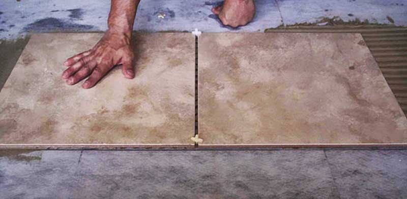 How to cut slate floor tiles