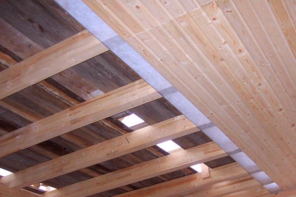 Устройство потолка в бане