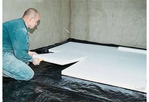 Утепление бетонного основания полимерным утеплителем