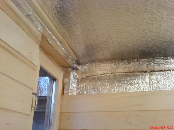Утепление парилки материалом со светоотражающей поверхностью