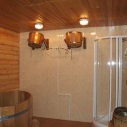 Вариант обустройства помывочной зоны в бане