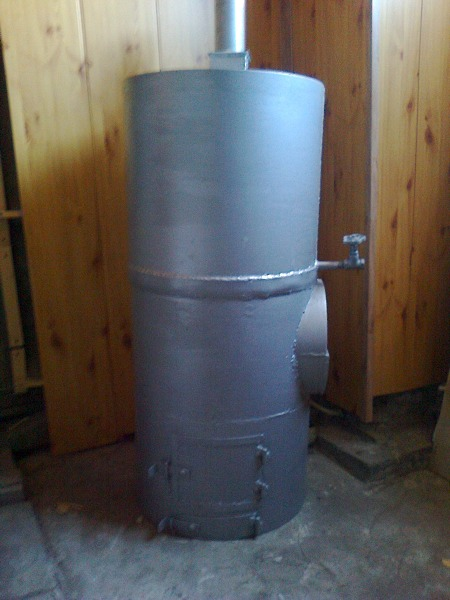 Вертикальная печь для бани