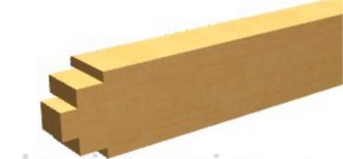 Вертикальный брус для обвязки, вид сверху