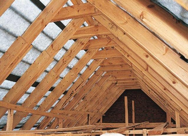 Крыша из бруса своими руками