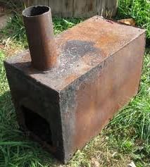Железная печь в баню из листового металла
