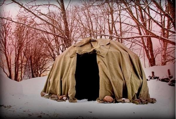 Зима, лес и банька!