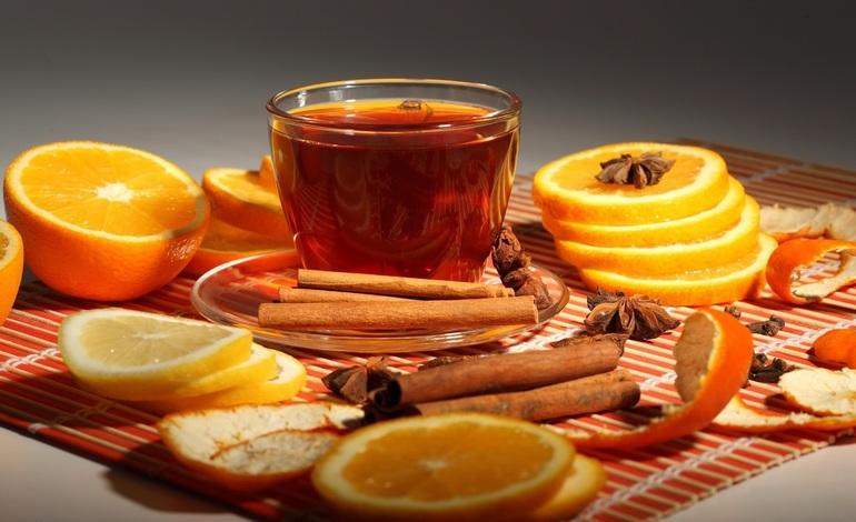 Чай из апельсинов