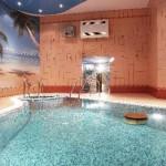 sauna s basseynom